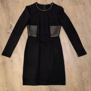 Tibi long sleeved black dress